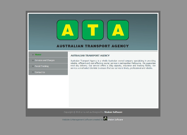 AUTRALIAN TRANSPORT AGENCY Website Screenshot