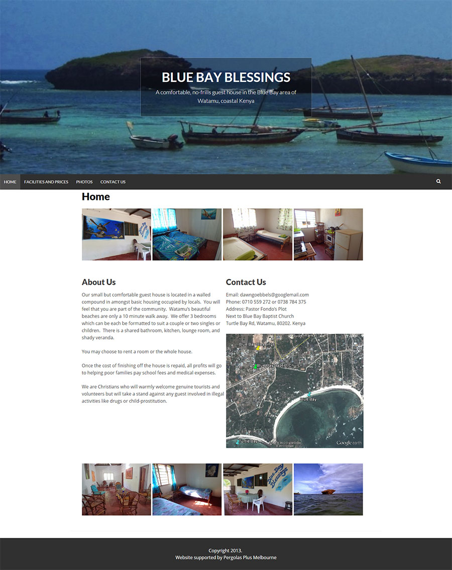 Blue Bay Blessings Website Screenshot