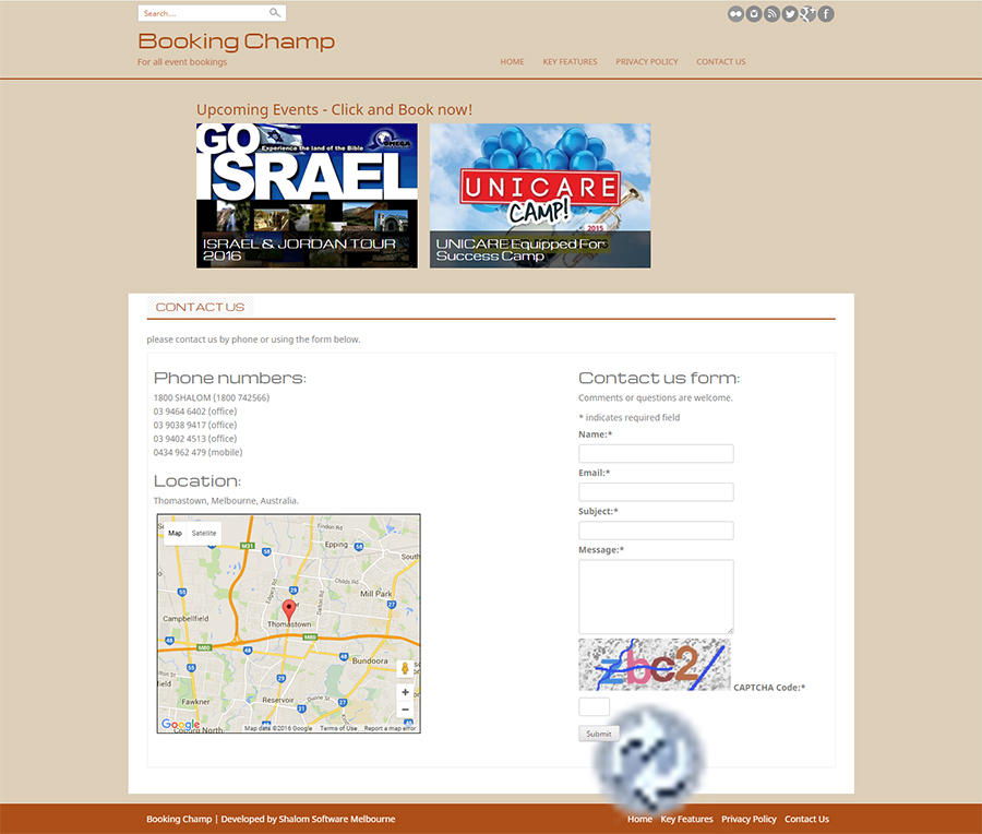 Booking Champ Website Screenshot