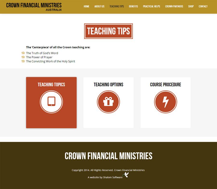Crown Financial Ministries Website Screenshot