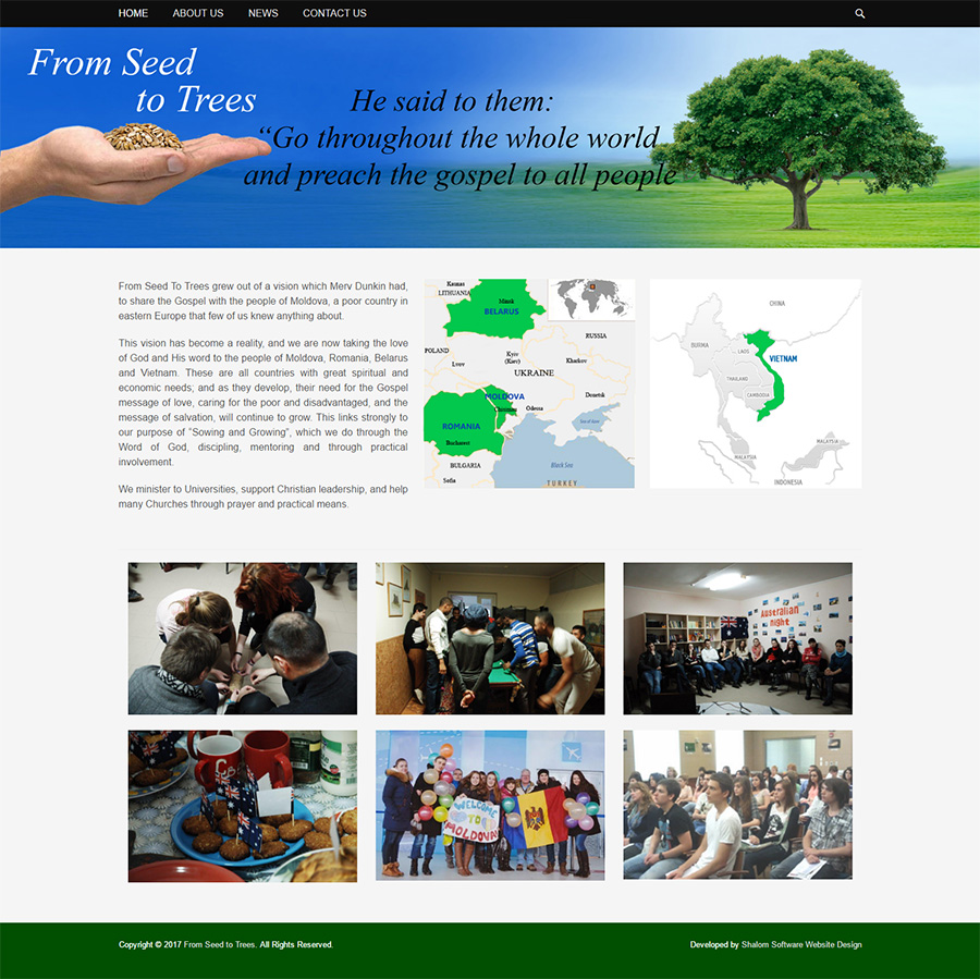 From Seed To Trees Website Screenshot