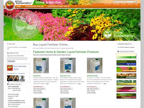 Grow Sustainably Website Screenshot