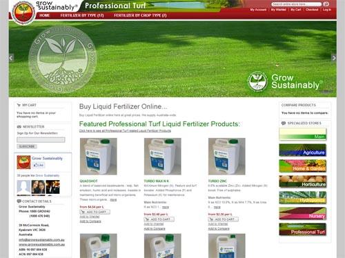 Grow Sustainably Website Screenshot