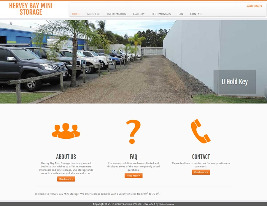 Hervey Bay Mini Storage Website Screenshot