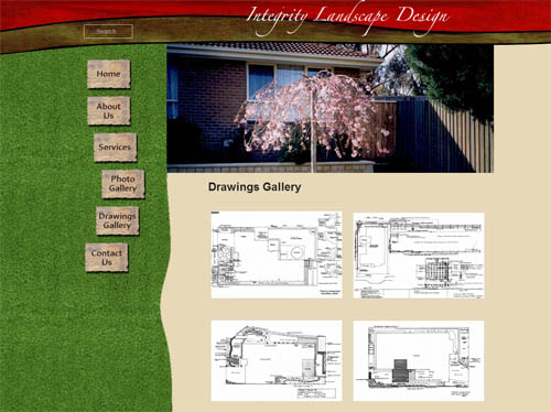 Integrity Landscape Design Website Screenshot
