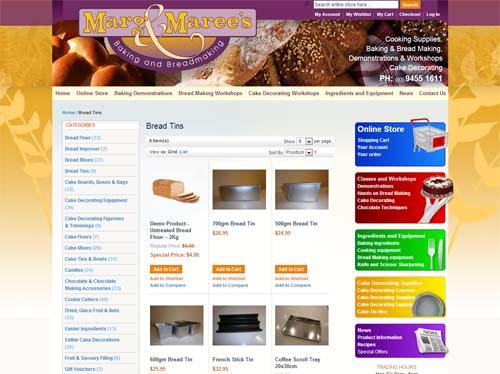 Marge and Mareess Website Screenshot
