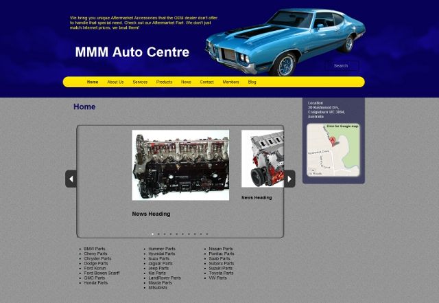 MMM Auto Centre Website Screenshot