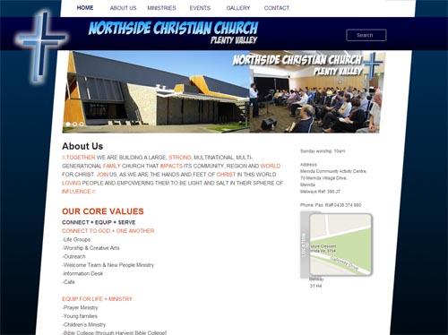 NCC Plenty Valley Website Screenshot