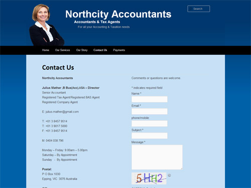 Northcity Accountants Website Screenshot