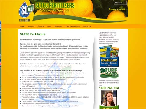 SLTEC Website Screenshot