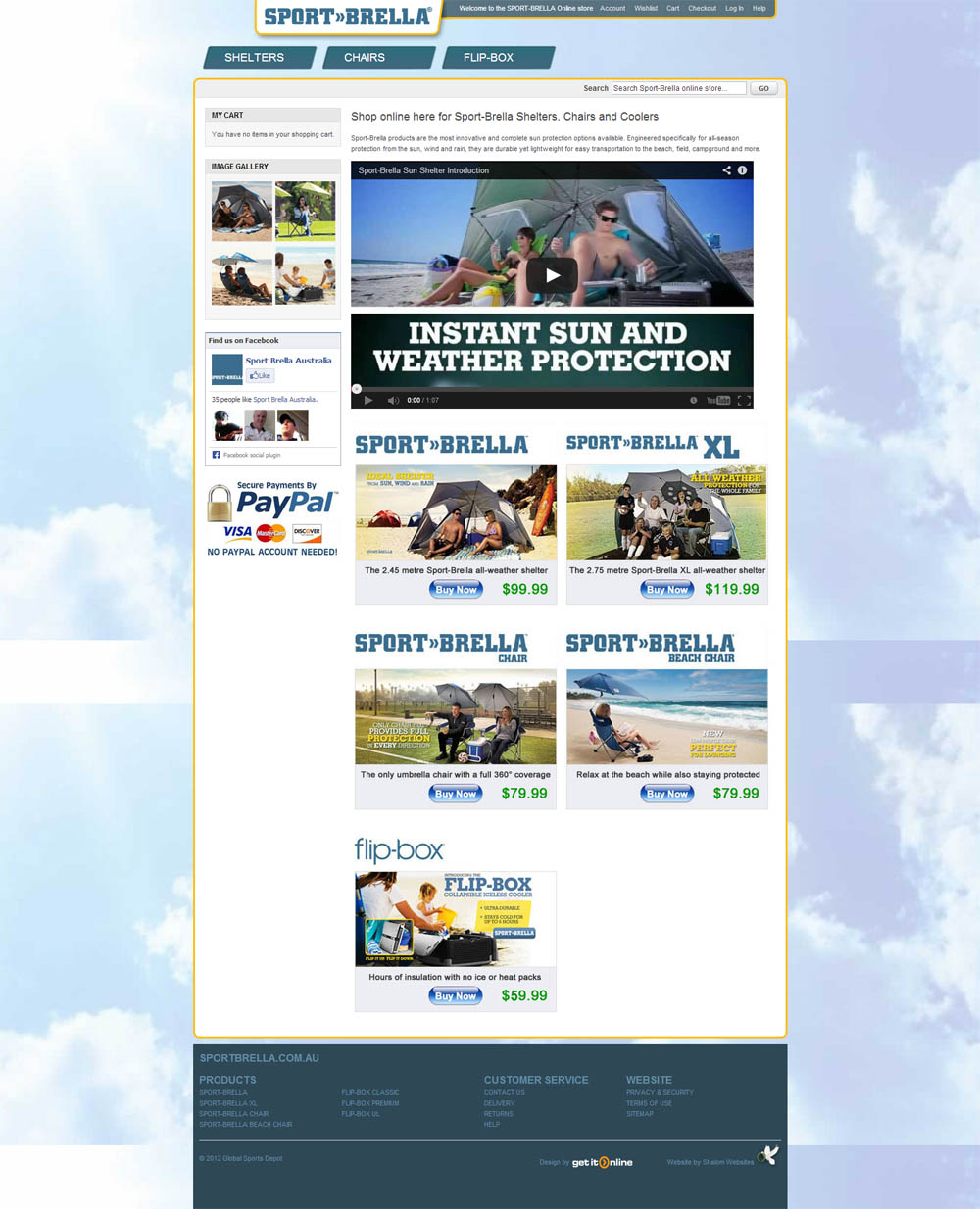 Sportbrella Store Website Screenshot