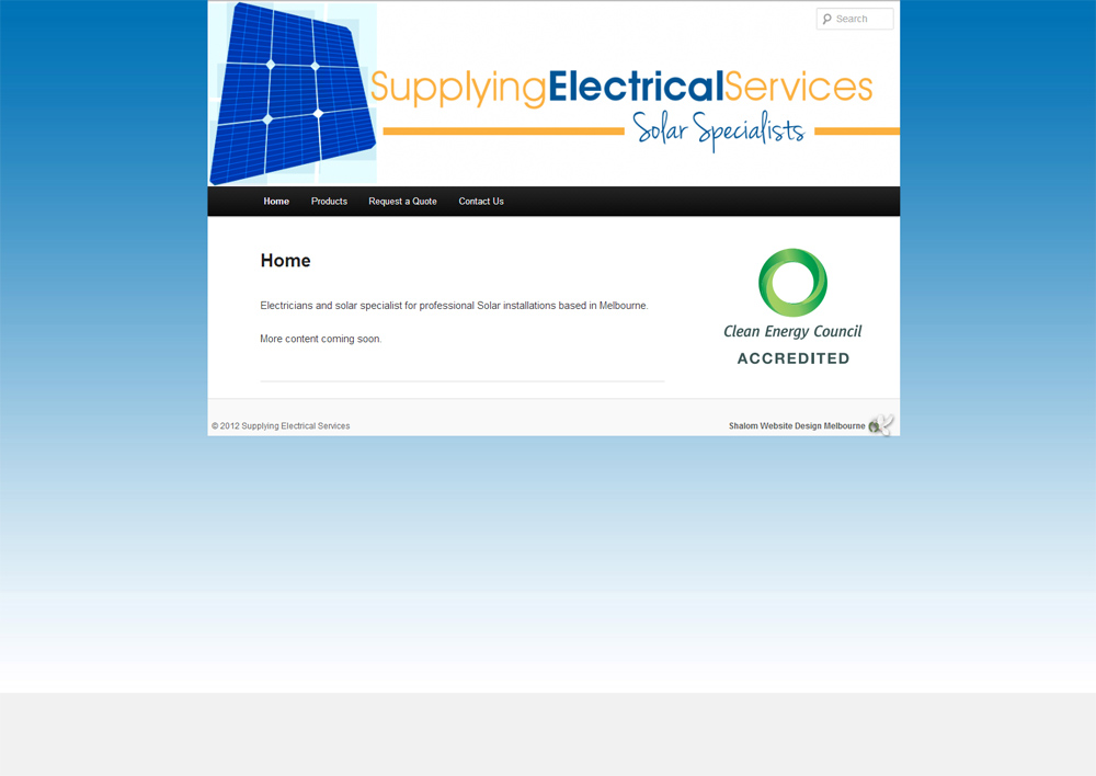 Supplying Electrical Website Screenshot