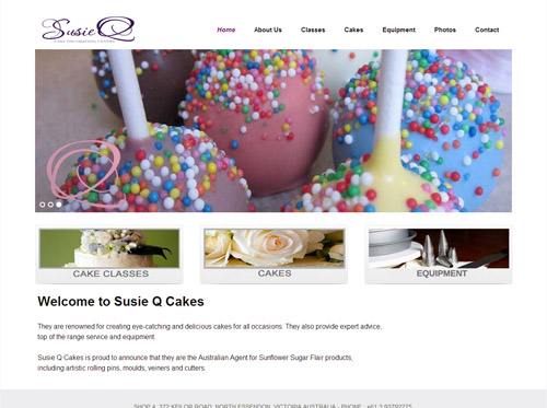 Susie Q Website Screenshot