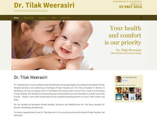 Tilak Weerasiri Website Screenshot
