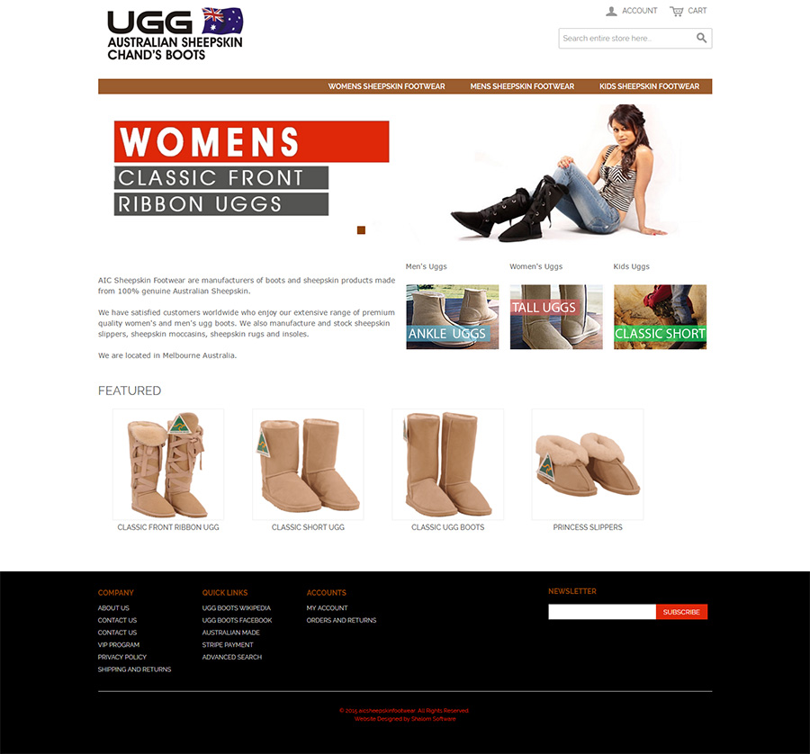 Uggboots Website Screenshot