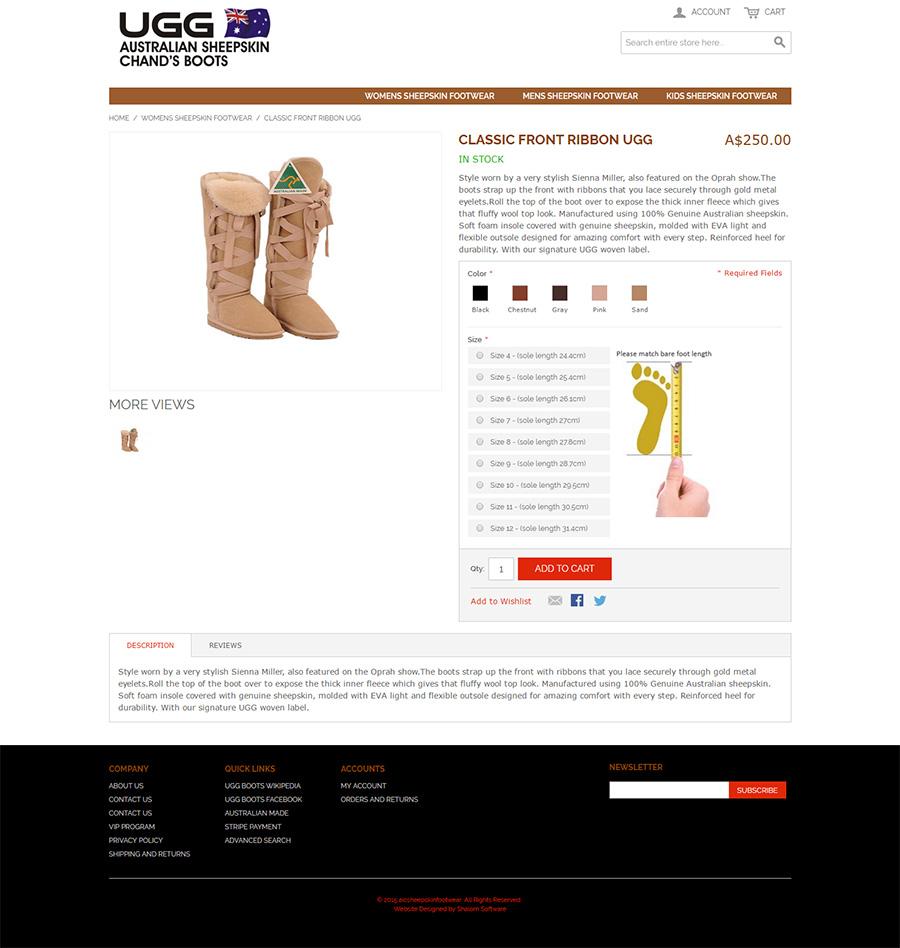 Uggboots Website Screenshot