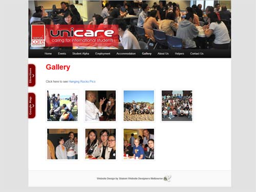 Unicare Website Screenshot